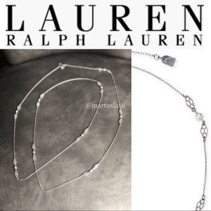 Ralph Lauren Imitation Pearl Station Necklace